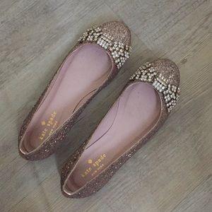Rose Gold Glitter Flats